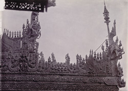 Carving in Central Hall of Queen's Monastery, [Mandalay]